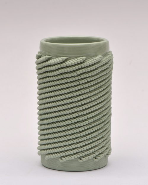 Light Green Weave S Vase